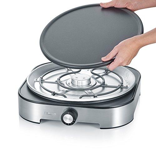 Severin CM 9469 Crepes-Maker, 125-Jahre Jubiläums-Edition (mit 4 Silikon-Ringen zur einfachen Zubereitung von Mini-Crepes, Spiegeleiern, Pancakes uvm. und zusätzlicher 3 Jahre Extra-Garantie) -