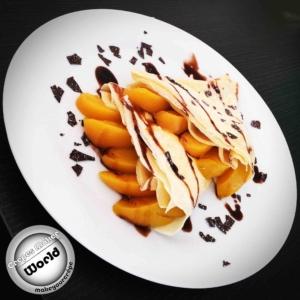 Crepes mit Aprikosen und Quark