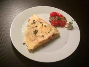 Frischkäse-Gemüse Crepes
