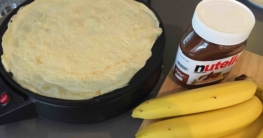 Nutella-Bananen Crepes